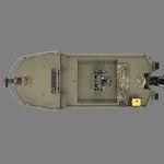 Jon boat fueraborda / con consola central / de pesca deportiva / de aluminio 1860 MVX SPORTSMAN Triton Boats