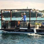 barco pontón fueraborda / eléctrico / tri-tube / de pesca deportiva