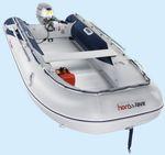 embarcación neumática fueraborda / plegable / de aluminio / con suelo de aluminio