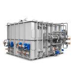 sistema de tratamiento de aguas negras / para buque / con separador / de membrana