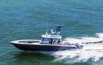 barco open fueraborda / cuatrimotor / con consola central / con fly