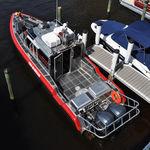 barco de bomberos fueraborda / de aluminio