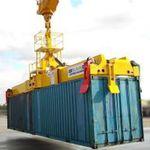 spreader para contenedores / para grúa móvil portuaria / telescópico / de tipo twin-lift