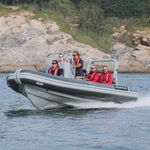 barco de vigilancia / barco de trabajo / fueraborda / embarcación neumática semirrígida