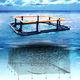 jaula de pesca para la acuicultura / de plástico / cuadrada / flotante