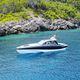 barco cabinado stern-drive / diésel / trimotor / con hard-top