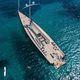 superyate de vela de lujo de crucero / con popa abierta / con 3 camarotes / sloop
