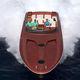 barco cabinado hidrojet / diésel / bimotor / casco de planeo