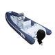 embarcación neumática fueraborda / semirrígida / con consola central / de fibra de vidrio