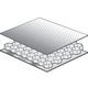 panel sándwich para aislamiento acústico / nido de abeja de aluminio / aluminio