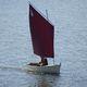 bote vela-remos clásico / con popa abierta / áurico / transportable