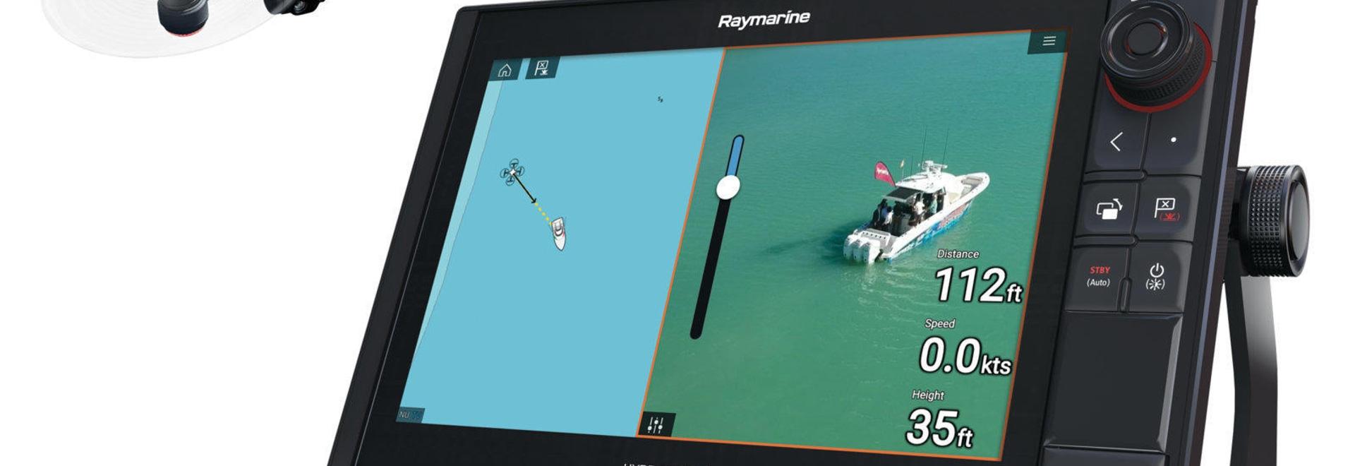 Apps de Raymarine microfaradio tres maneras: de control del abejón a los comms sentados a fluir del vídeo