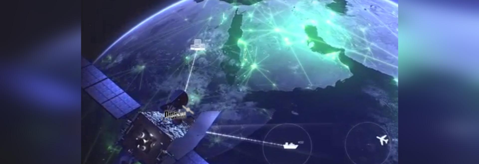 Inmarsat e interrupción digital de la charla marítima azul del racimo