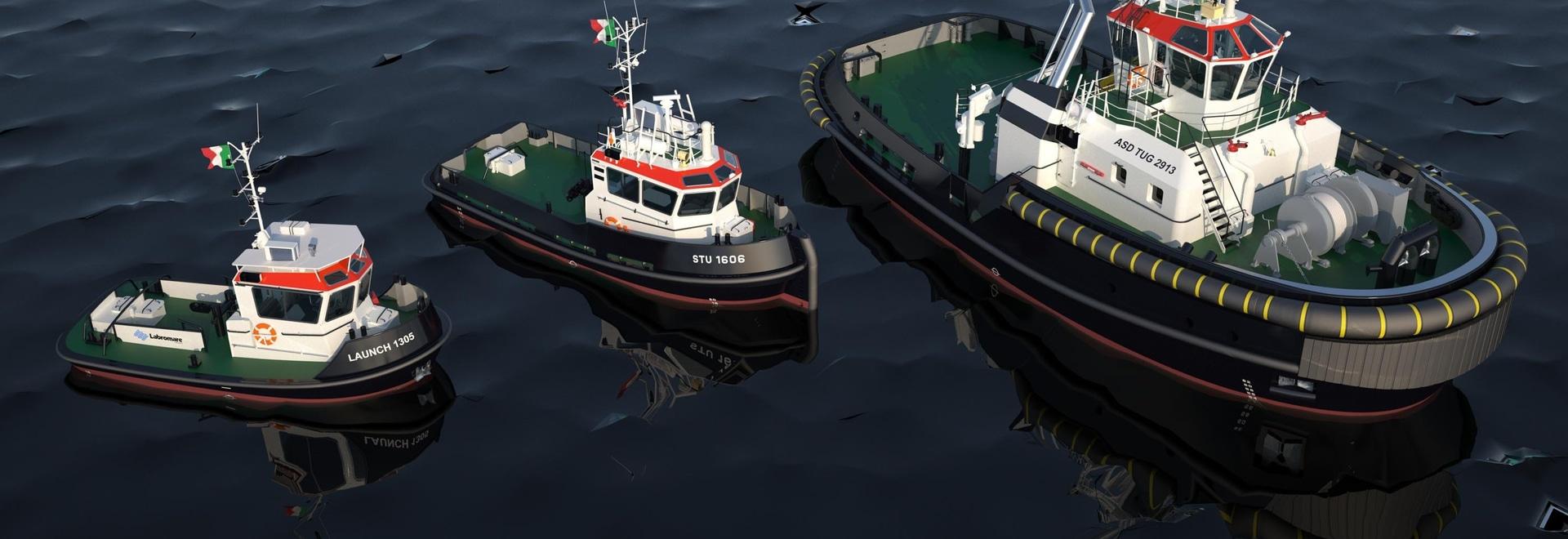 Un tirón de ASD, Stan Tug 1606 y Stan Launch 1305 están en la orden para Fratelli Neri (Damen)