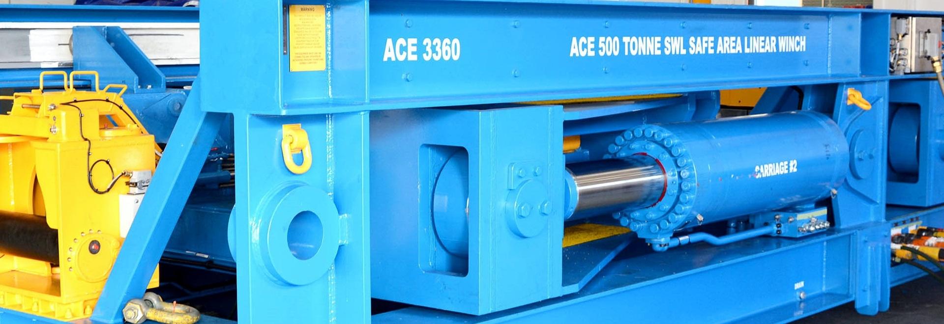 Los tornos de ACE anuncian el NUEVO torno linear 500te en la energía costera 2016