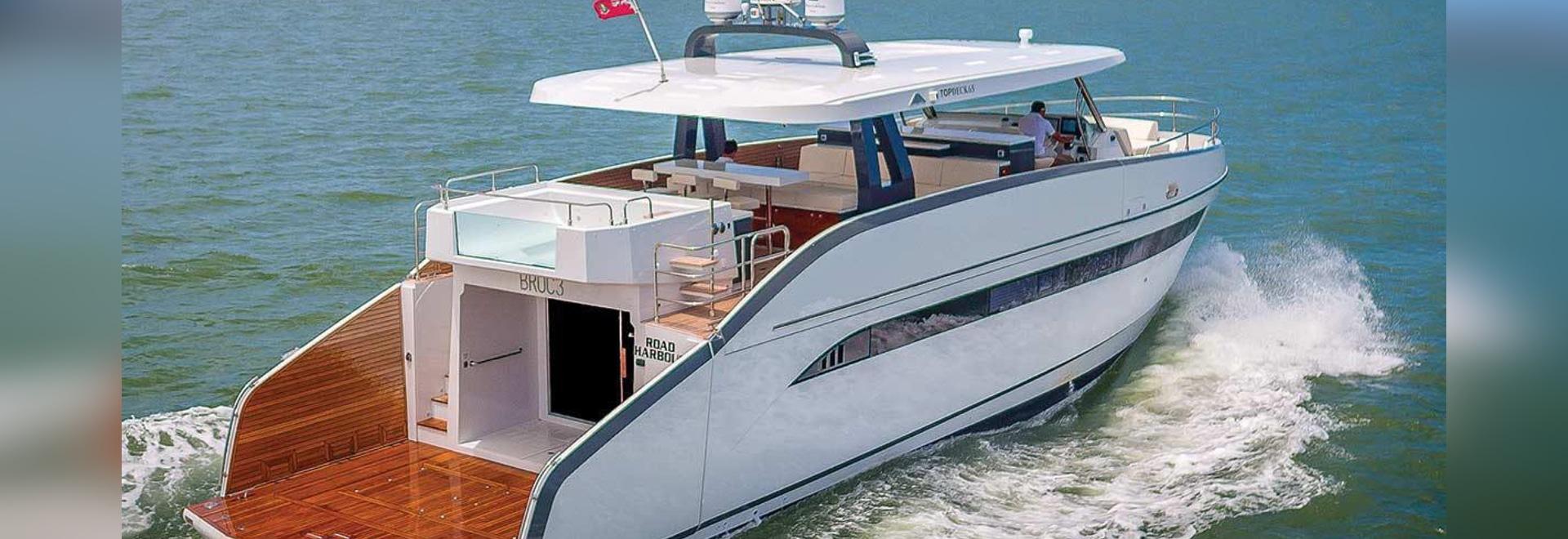 Vea el Astondoa 65 en la demostración internacional del barco del Fort Lauderdale