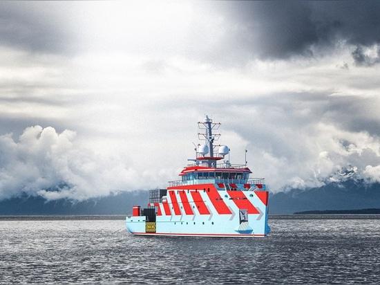 Damen desarrolla la primera línea buque de la ayuda
