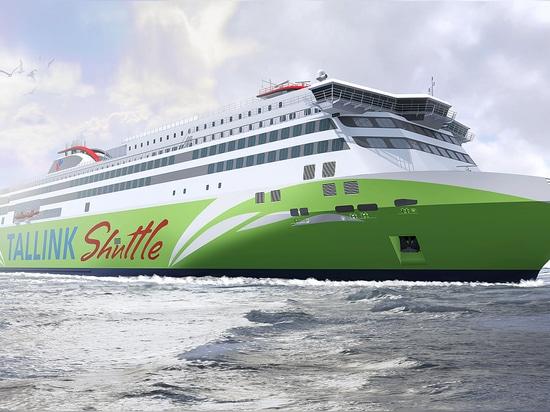 La producción de un GASERO de la nueva generación accionó el transbordador rápido para Tallink encendido en Meyer Turku