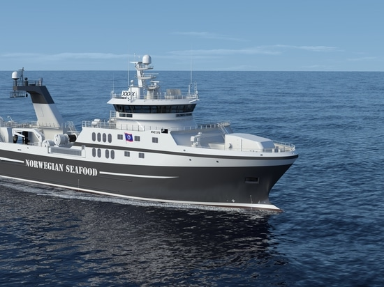 Nuevo buque del barco rastreador que se equipará del sistema de propulsión híbrido de Rolls Royce