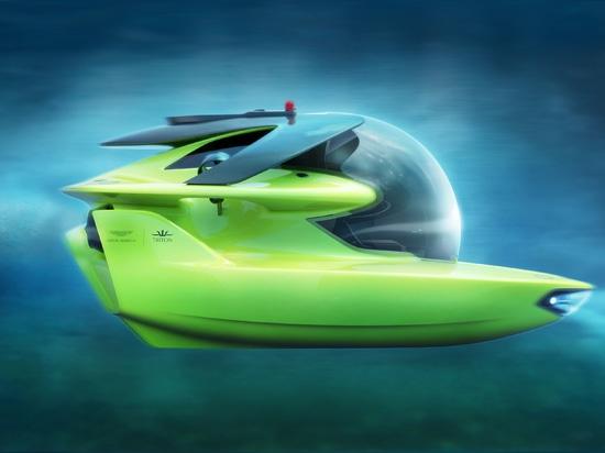 Fase de diseño completa de los submarinos y de Aston Martin de Tritón para el sumergible totalmente eléctrico del profundo-salto
