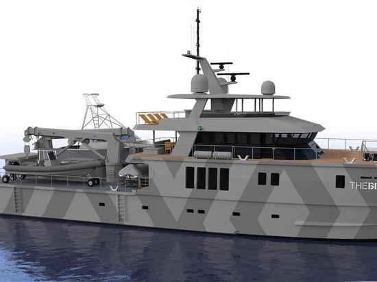 el superyacht de la ingeniería de los 39m Profab la bestia acerca a la realización