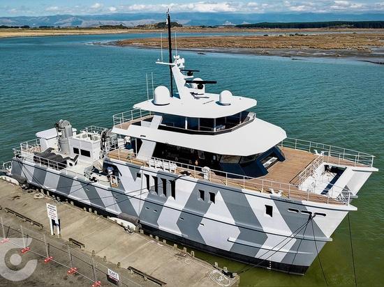 superyacht del explorador de los 40m la bestia lanzada en Nueva Zelanda