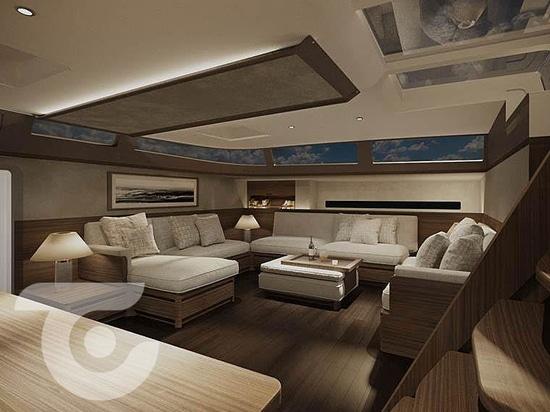 34m Solaris 111 velero en construcción en Performance Boats