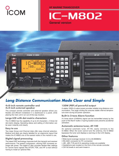 IC-M802 General version