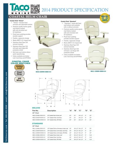 HB Series Coastal Helm Chairs