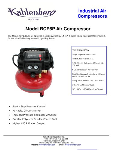 Air Compressor Model RCP6P