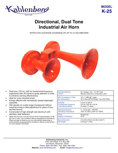 K-25 Industrial Air Horn
