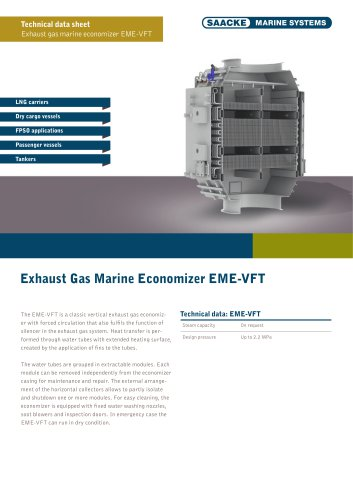 Exhaust Gas Marine Economiser EME-VFT