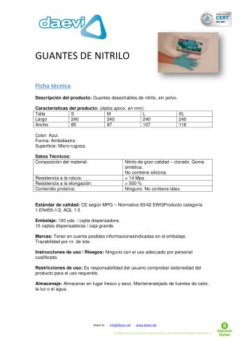 Nitrile Gloves ( powder free )