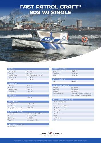 Fast Patrol Craft 903 WJ Single