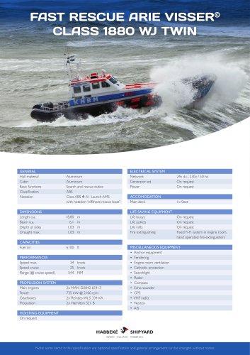 Fast Rescue Arie Visser Class 1880 WJ Twin