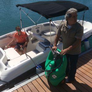 depósito de combustible / para barco / portátil / con bombas trasiego
