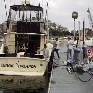 depósito de líquidos / para barco / con bombas trasiego / de acero inoxidable