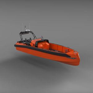 barco profesional barco de salvamento / hidrojet intraborda / diésel / autodrizable