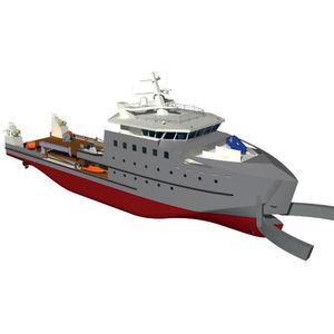 buque especial de transporte de tripulación / de recuperación de hidrocarburos / remolcador