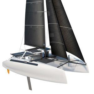 catamarán / de regata y crucero / con popa abierta / con cockpit cerrado