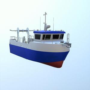 barco profesional barco de pesca profesional / intraborda / de aluminio