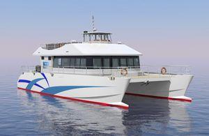 barco profesional barco de pasajeros / catamarán / intraborda / de aluminio