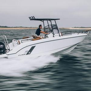 barco open fueraborda / con consola central / de esquí acuático / rápido