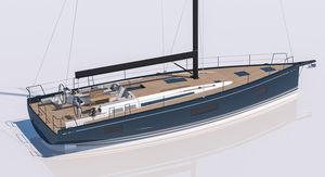 yate de vela de crucero / de regata y crucero / con popa abierta / con 3 camarotes