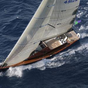 velero de crucero / con popa abierta / con 2 literas / con mástil de carbono