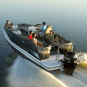 barco pontón fueraborda / de esquí acuático / de wakeboard / 14 personas máx.