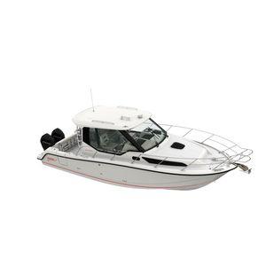 barco cabinado fueraborda / bimotor / con caseta de timón / de pesca deportiva