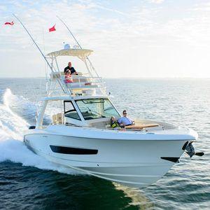 barco open fueraborda / cuatrimotor / con fly / con consola central