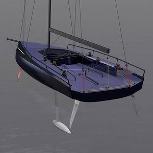 velero de regata / con popa abierta / con foil / con bauprés