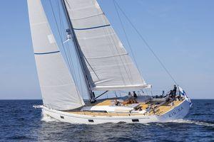 yate de vela de regata y crucero / con popa abierta / de doble timón / con doble rueda de timón